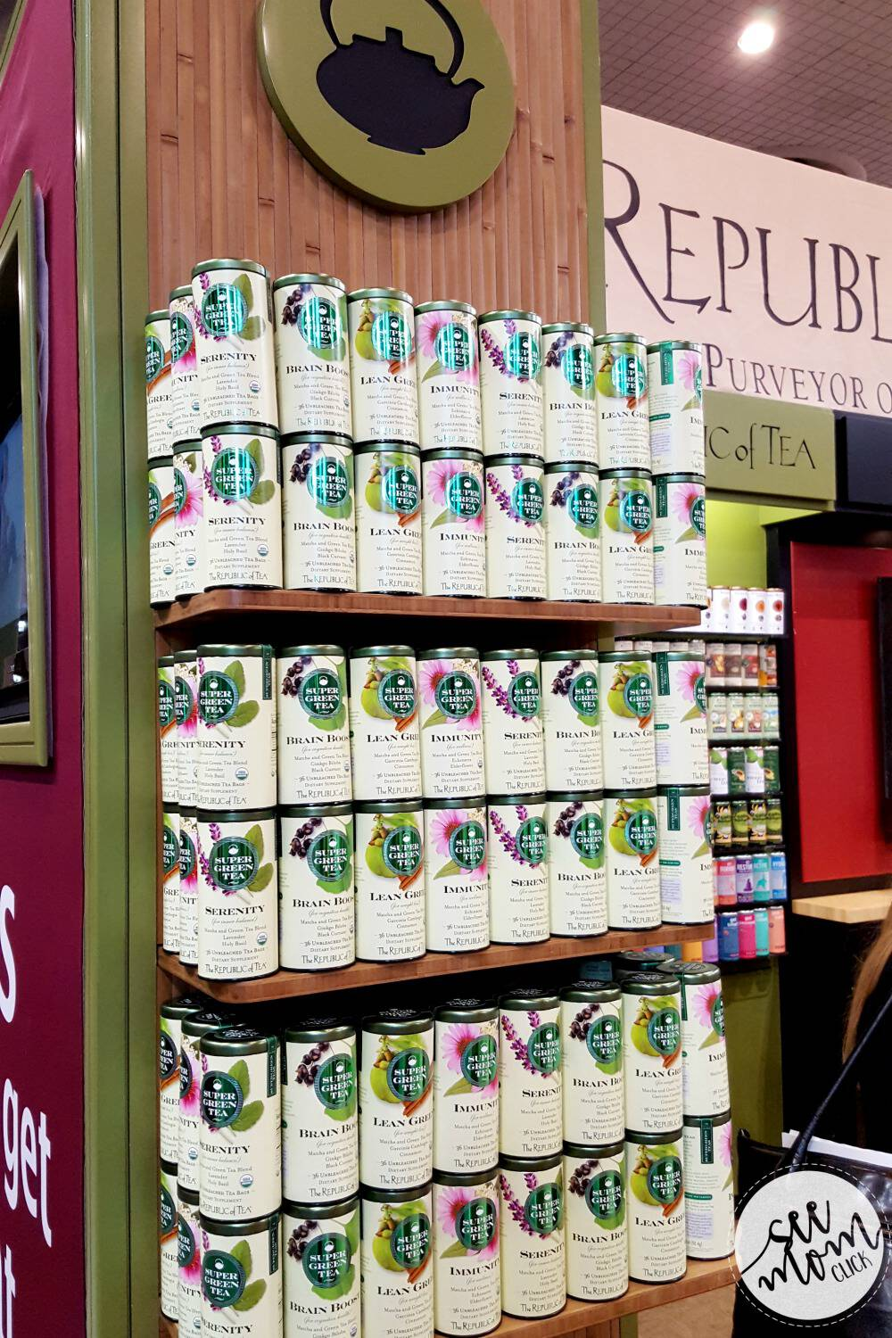 The Republic of Tea has a new healthful collection of SuperGreen Teas that are both delicious and beneficial. Each one contains ingredients to target a specific area for improved health.