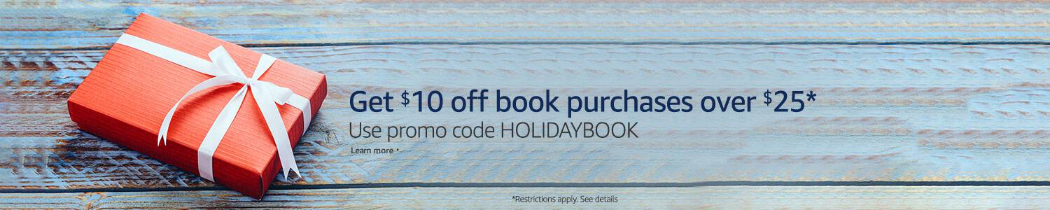 Bookworms, check out this fantastic deal on books! Save $10 on $25 in books on Amazon. Grab some great new reads for the new year!