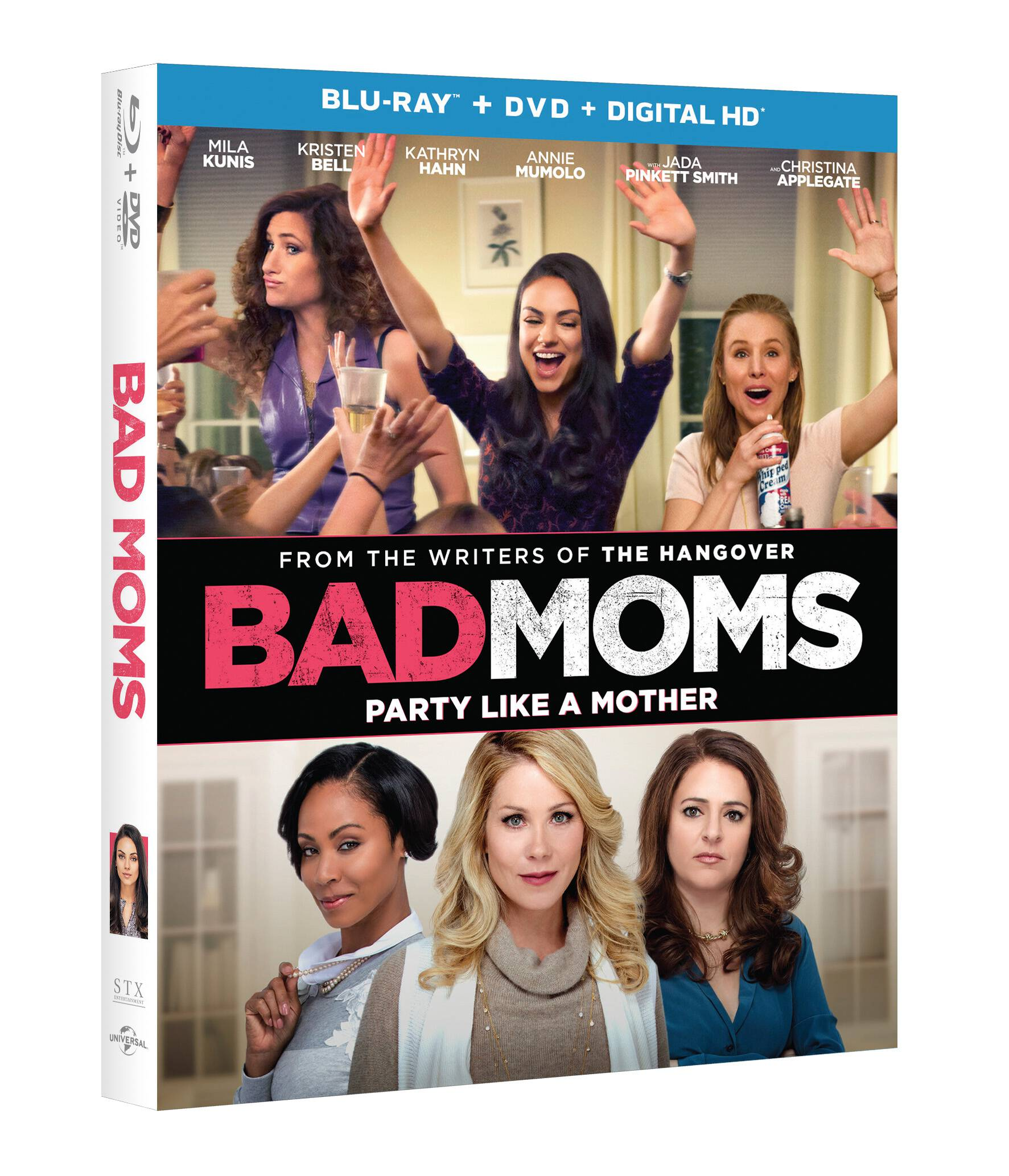 This hilarious movie is now available to own! Bad Moms On Blu-Ray, DVD, and Digital HD is out now so you can have a girls' night in any time!
