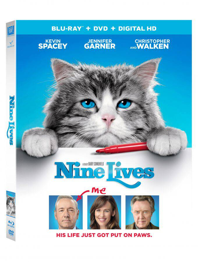 NINE LIVES on Blu-Ray, DVD, and Digital HD Available Now!