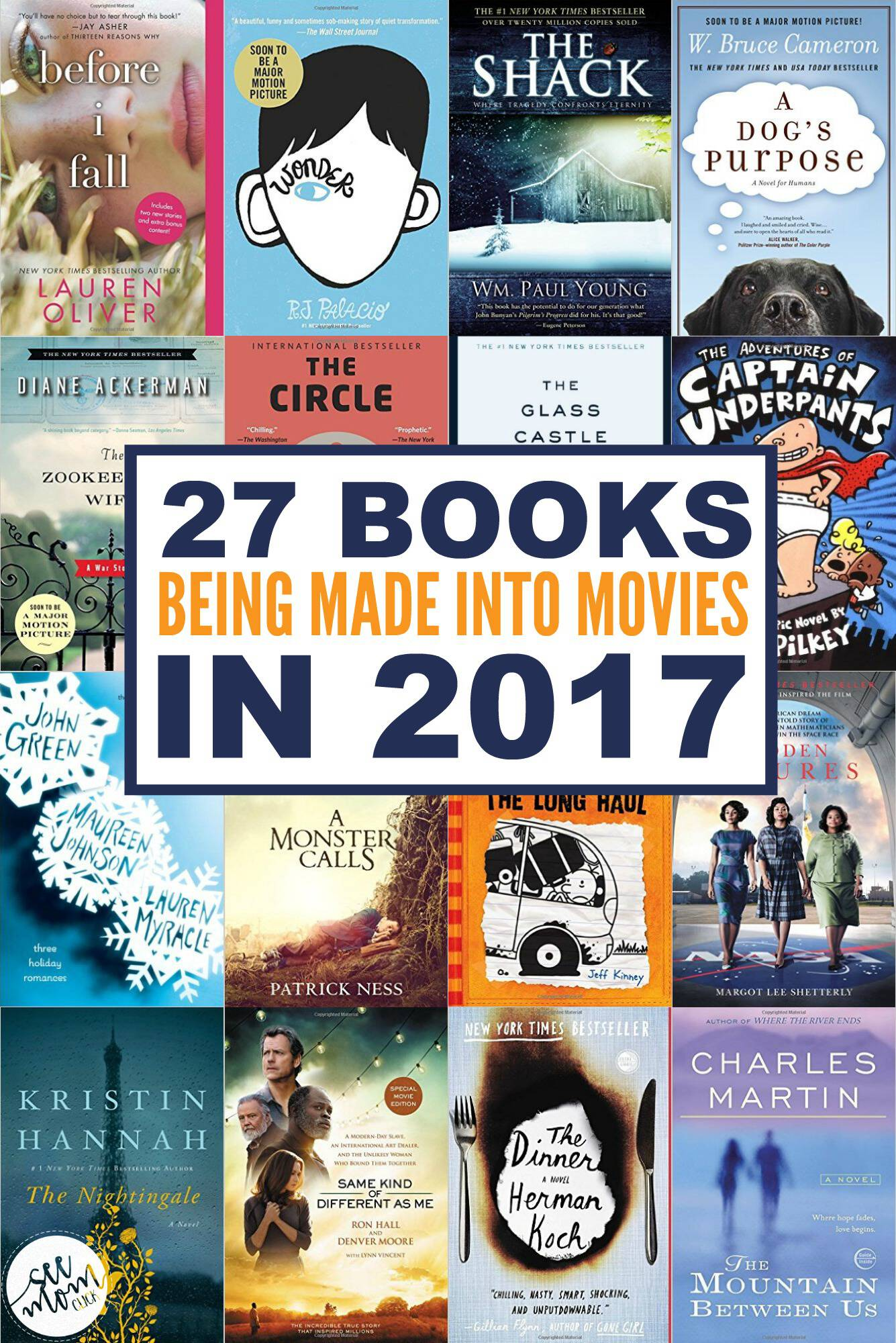 books being made into movies in 2017   see mom click