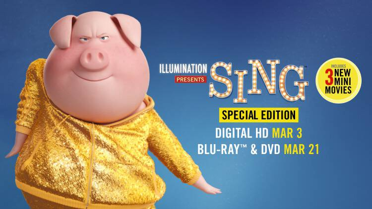 Make some noise for SING! My family loved this feel-good film in theaters and SING Special Edition Digital HD, Blu-ray & DVD are coming soon!