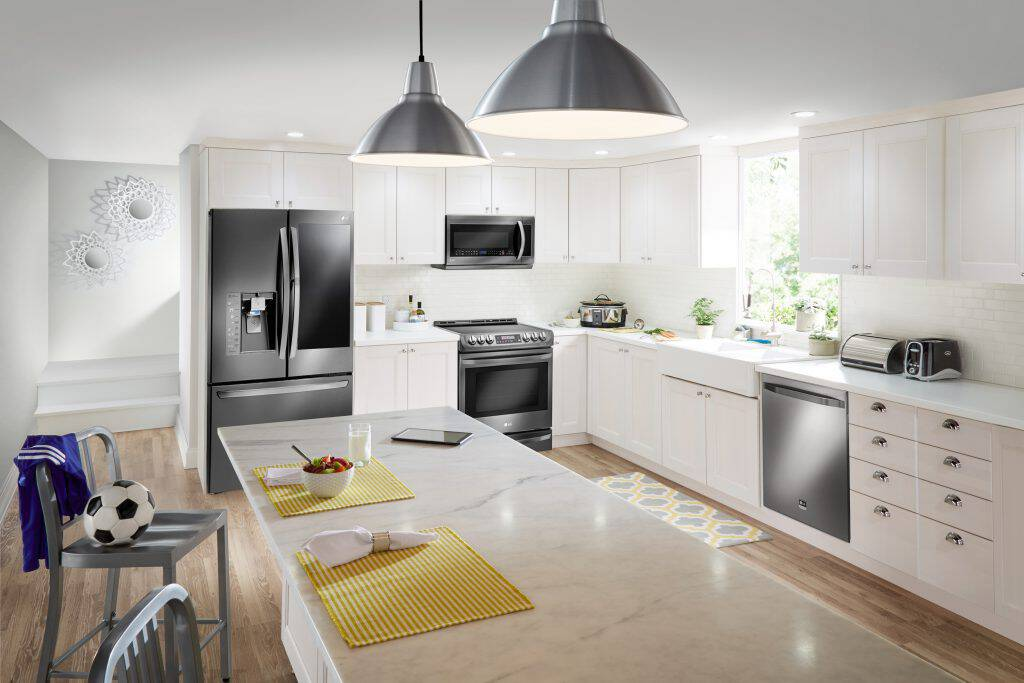 Time to spruce up the'ole kitchen? Right now you can save on a gorgeous kitchen remodel with sleek LG Appliances at Best Buy.