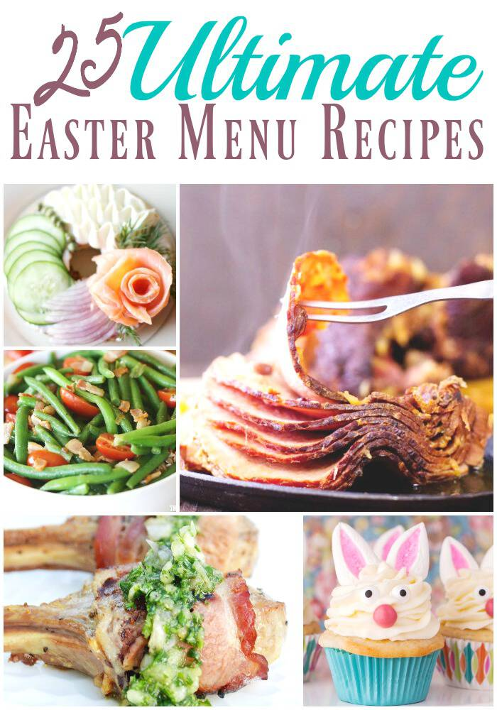 Hosting Easter or attending a get together and have no idea what to make? I can make your life easier this year. I've teamed up with some of my favorite food bloggers to share the ultimate Easter menu.