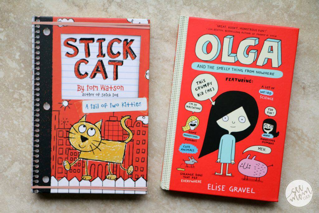 These new hilarious middle-grade books will get your kids laughing! Check out Olga and the Smelly Thing from Nowhere and Stick Cat: A Tail of Two Kitties!