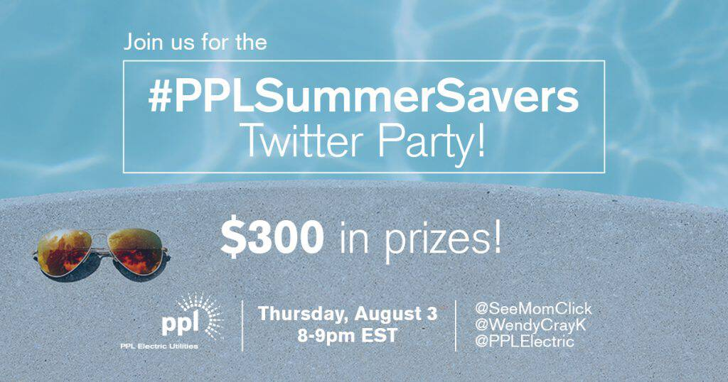 Join me Thursday August 3 for the #PPLSummerSavers Twitter party where we're sharing tons of tips to save money on utilities this summer!