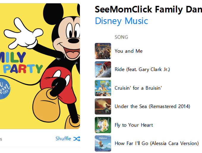 See Mom Click Family Dance Party Playlist