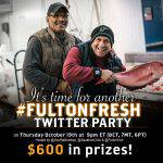 #FultonFresh Twitter Party October 19 at 9pm ET – RSVP Here! ($600 in Prizes!)