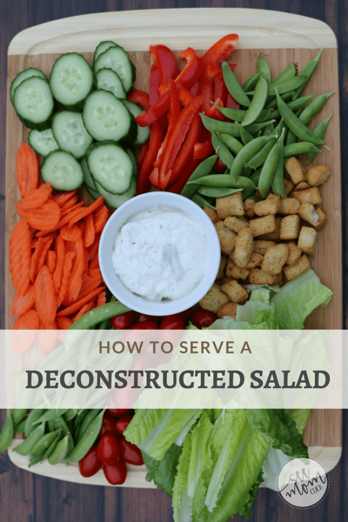 This is one way to kill two birds with one stone when you're entertaining! Get the scoop on how to serve a deconstructed salad that serves as both your finger foods and your salad before the main course. It's easier, prettier, and creative so your guests will love it!