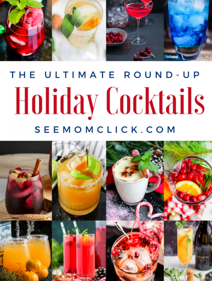 'Tis the season to enjoy a Christmas cocktail! I've rounded-up the ultimate list of the best holiday cocktail recipes: cranberry cocktails, chocolate cocktails, warm drinks, and many, many more - over 60 unique drink recipes! Cheers!