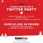 #GameStopForce GameStop Twitter Party December 11 at 8pm ET – RSVP Here! ($1200 in Prizes!)