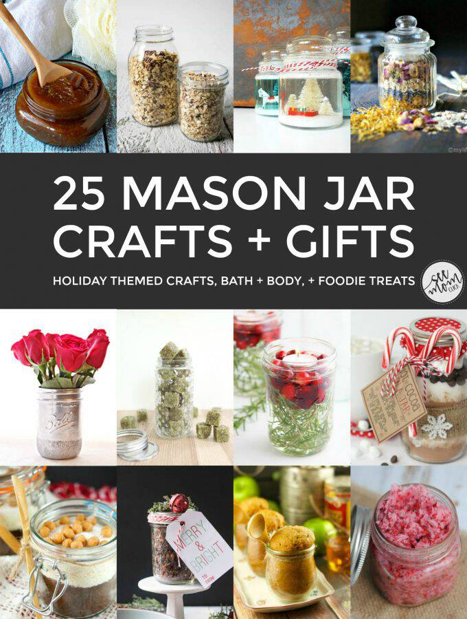 25 Mason Jar Holiday Crafts and Gifts