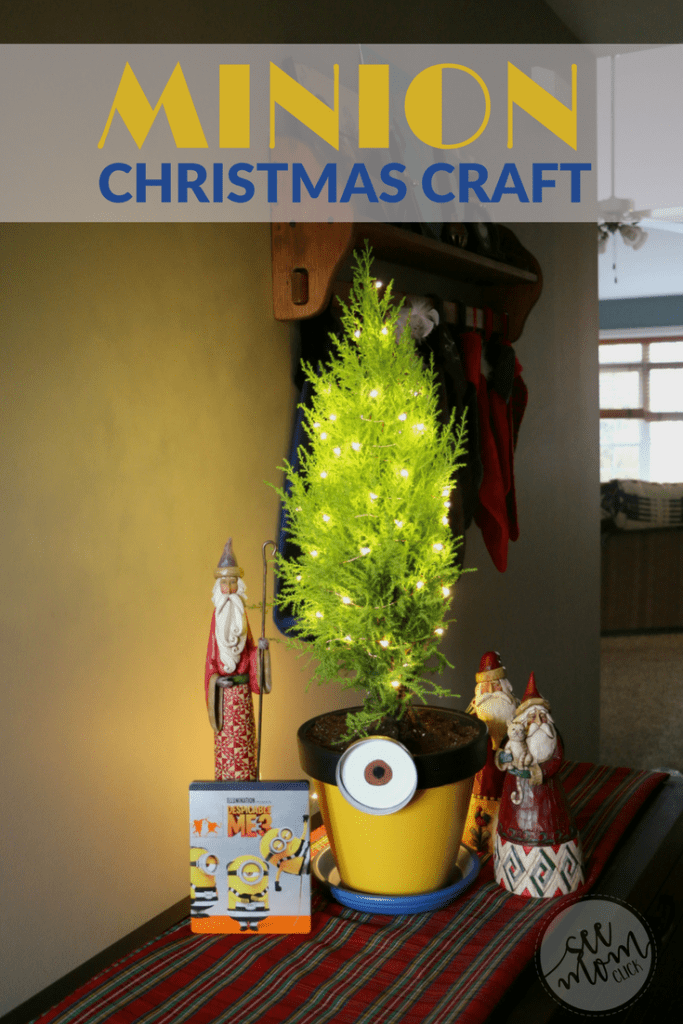 To celebrate Despicable Me 3 out on Blu-Ray and DVD now, we made this fun and EASY Minion Christmas craft. The kids had so much fun with this! For the holidays, we planted a 'Christmas tree' and you could easily plant your favorite flowers or herbs over the summer!