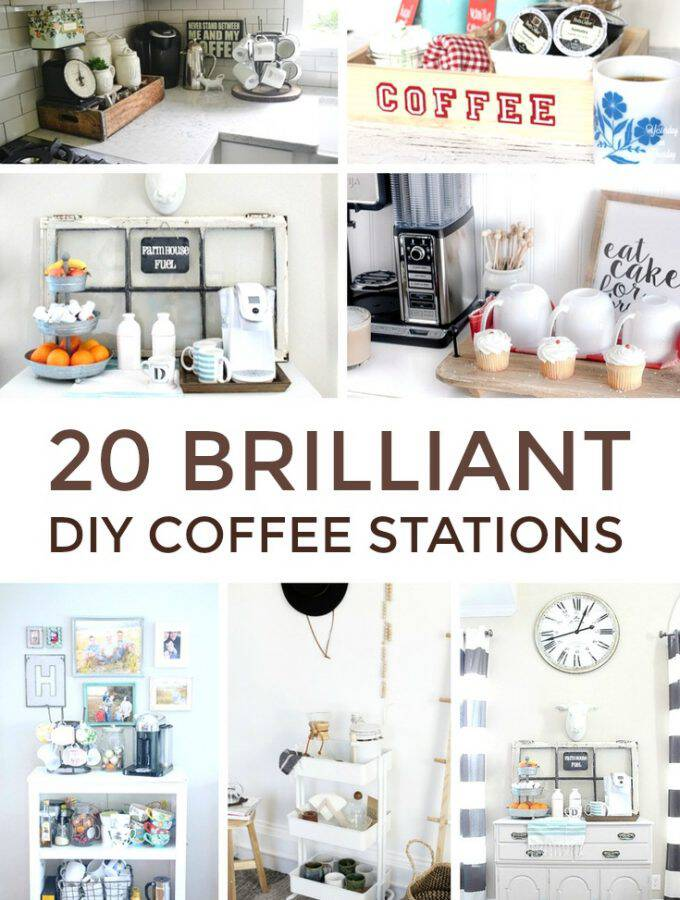 20 Brilliant DIY Coffee Stations