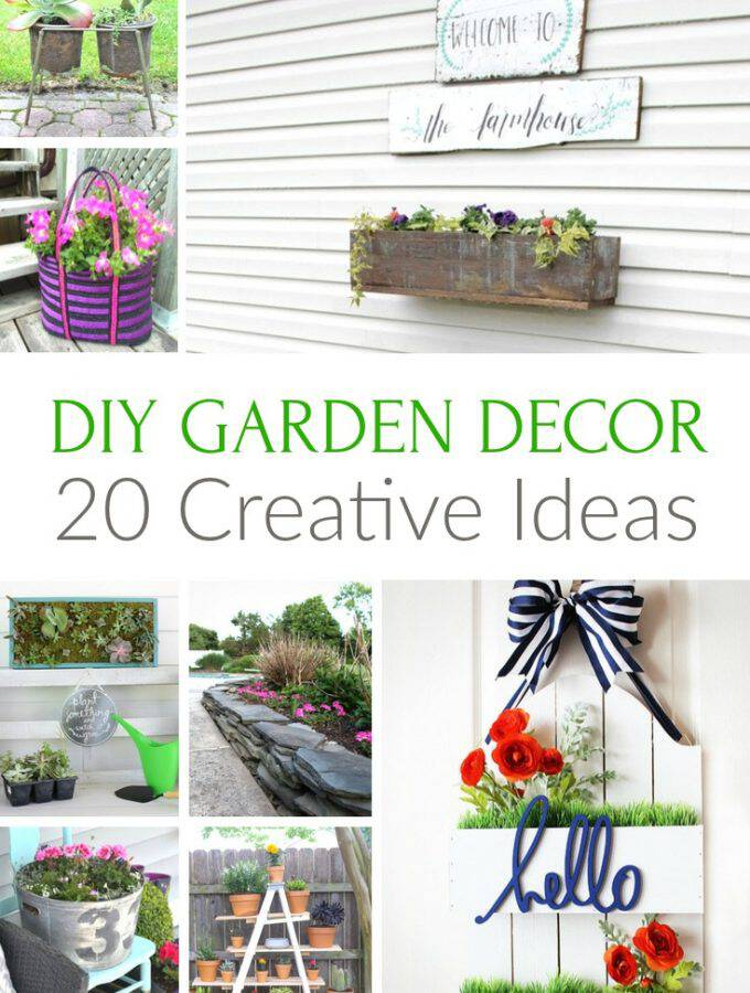 20 Creative DIY Garden Decor Ideas
