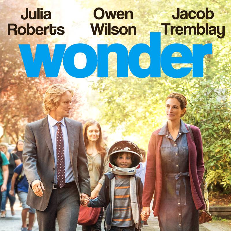Wonder follows the inspiring story of the Pullman family, whose youngest child, Auggie, is a boy born with facial differences. When Auggie enters mainstream elementary school for the first time, his extraordinary journey unites his family, his school, and his community, and proves that you can't blend in when you were born to stand out.