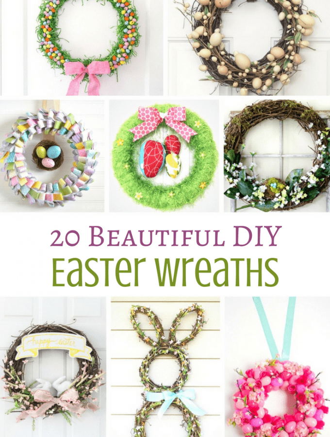 20 Beautiful DIY Easter Wreaths