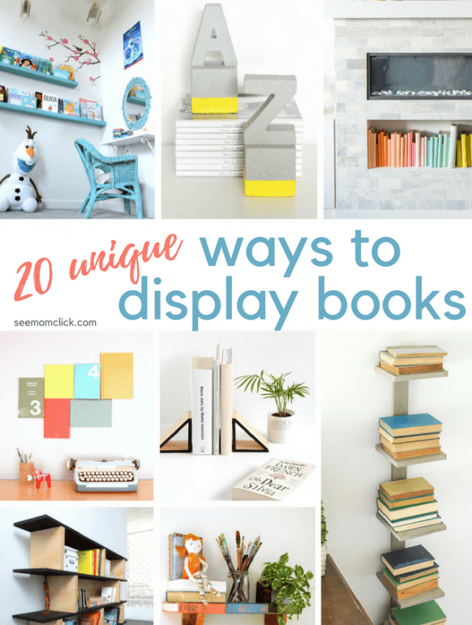 20 Unique Ways to Display Books