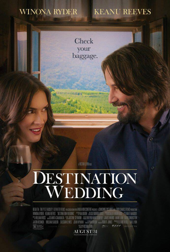 Check out the new Destination Wedding trailer, the movie that reunites Winona Ryder and Keanu Reeves in a heartwarming film releasing August 31!