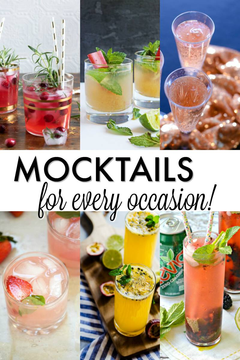 There's always a reason to celebrate, and a drink for every celebration! Here are some of the best mocktails recipes, non alcholic for any occasion! Cheers #mocktails #nonalcoholic