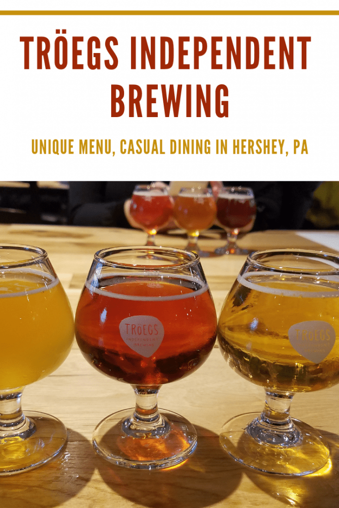 Tröegs Independent Brewing in Hershey PA combines a few of our favorites: local beer, a unique delicious menu, and a relaxed vibe. The perfect place to dine in Hershey with your family or friends.