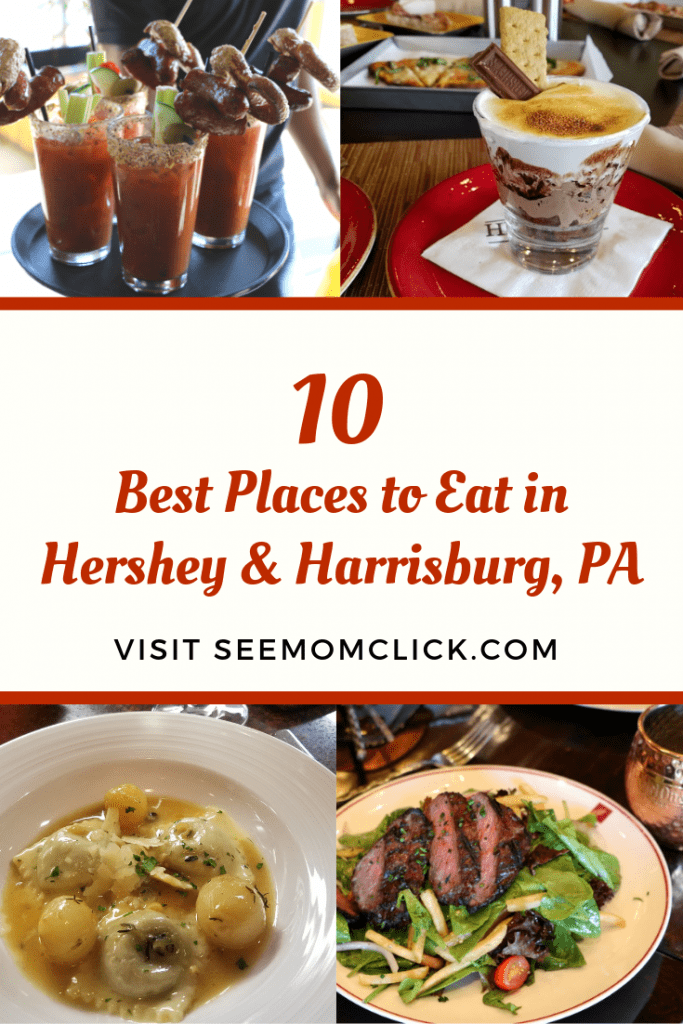 The foodie scene in Hershey and Harrisburg, Pennsylvania is amazing! We've lived locally for years and have just discovered these hidden gems in our own backyard. I've got 10 delicious Hershey restaurants and Harrisburg restaurants for you to check out when you are traveling to the area. Dig in!