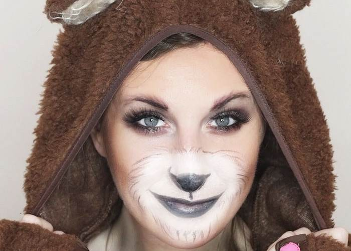Cute Bear Makeup Tutorial for Halloween